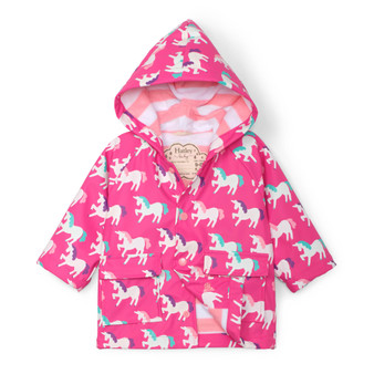Hatley Mystical Unicorns Colour Changing Baby Raincoat (Sizes 9-12 Months)