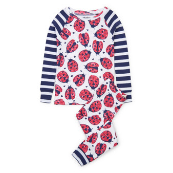 Hatley Love Bugs Organic Cotton Raglan Pyjama Set (Sizes 2-12 Years)
