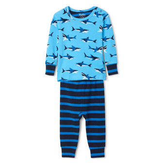 Hatley Great White Sharks Organic Cotton Baby Pyjama Set (Sizes 3-24 Months)