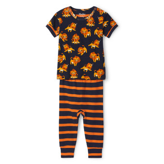 Hatley Little Cubs Organic Cotton Baby Short Sleeve Pyjama Set (Sizes 3-24 Months)