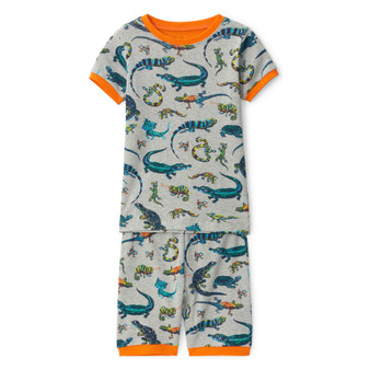 Hatley Rambunctious Reptiles Organic Cotton Short Pyjama Set (Sizes 5 Years)
