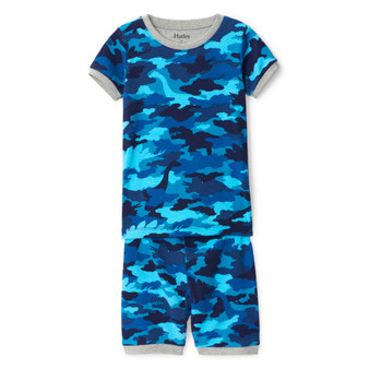 Hatley  Dino Camo Organic Cotton Short Pyjama Set (Sizes 4-6 Years)