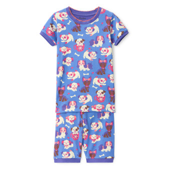 Hatley Puppy Love Organic Cotton Short Pyjama Set (Sizes 2-6 Years)