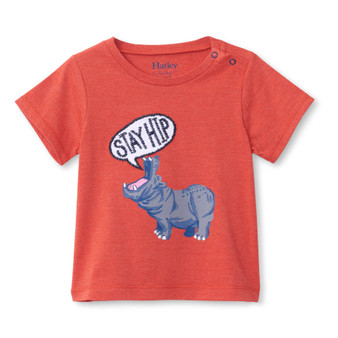 Hatley Hip Hippo Baby Graphic Tee (Sizes 9 Months - 4 Years)