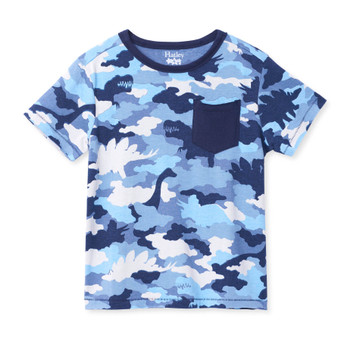 Hatley Dino Camo Graphic Front Pocket Tee (Sizes 2-5 Years)
