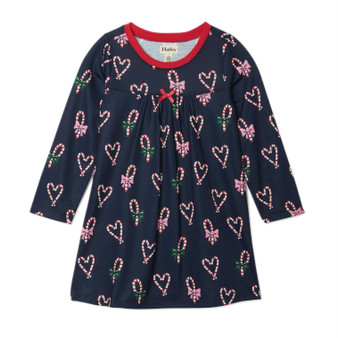 Hatley Candy Cane Hearts Long Sleeve Nightdress (Size 5 Sample)