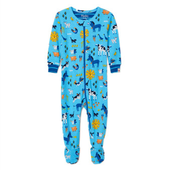 Hatley Barnyard Friends Organic Cotton Footed Coverall (Size 12-18 Months Sample)