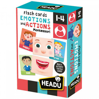 Headu Montessori Flashcards Emotions and Actions (1-4 Years)