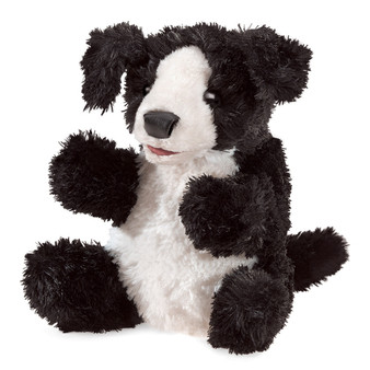 Folkmanis Small Black and White Dog Puppet (Suitable 3+)