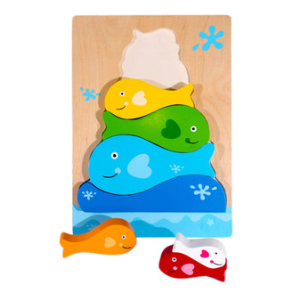 Kiddie Connect Fish Stacker Wooden Puzzle (18m+)