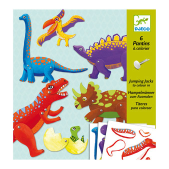Djeco Dinosaurs Small Paper Puppets Craft Set (Age 6+)