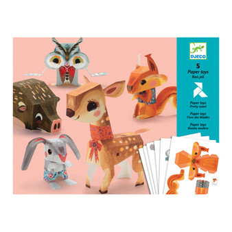 Djeco Pretty Wood Paper Toys Origami Craft Set (Age 7+)