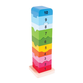 Bigjigs Toys Number Stacking Tower (3 Years +)