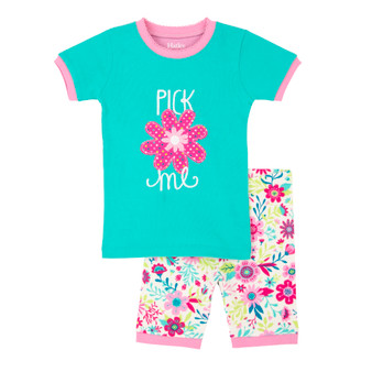 Hatley Wallpaper Flowers Short Pyjama Set (Size 3 & 5 Years)