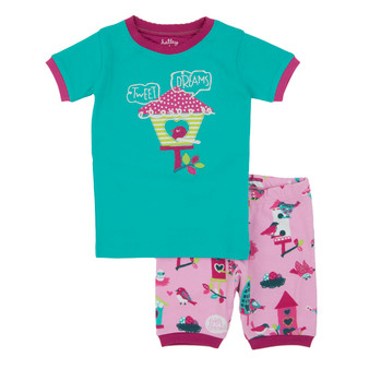 Hatley Bird Houses Tweet Dreams Short Pyjama Set (Size 2 & 3 Years)