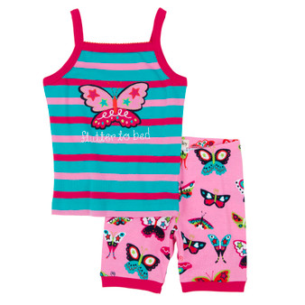Hatley Electric Butterflies Short Tank Pyjama Set (Size 3 Years)
