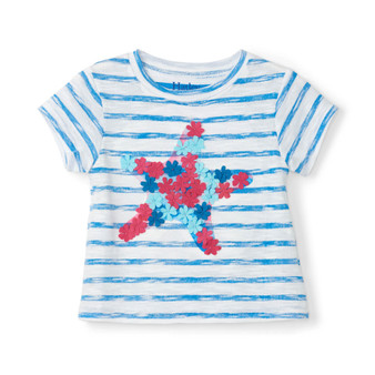 Hatley Floral Star Baby Tee (Size 9-12m Sample)