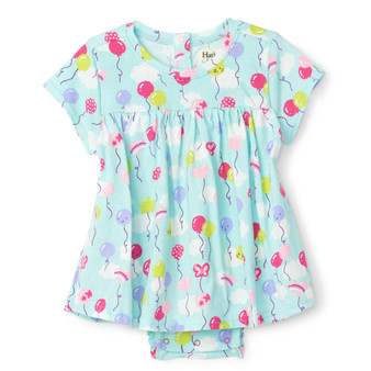 Hatley Party Balloons Baby One-Piece Dress (Size 9-12m Sample)