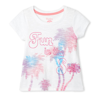 Hatley Glimmer Palms Tie Back Tee (Size 4 Sample)