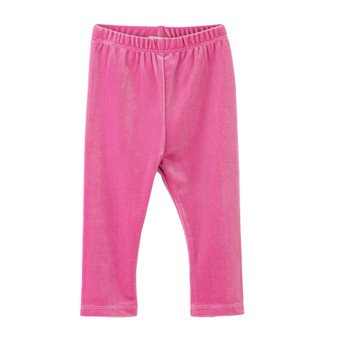 Hatley Candy Pink Velour Leggings (Size 9-12m Sample)