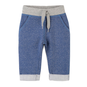 Hatley Blue & Grey Baby Joggers (Size 9-12m Sample)