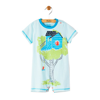 Hatley Treehouse Applique Romper (Size 9-12m Sample)