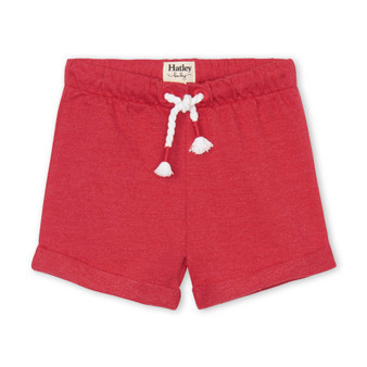 Red French Terry Baby Shorts (Size 9-12m Sample)