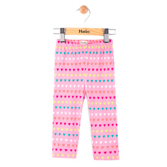 Hatley Pink Hearts Allover Leggings (Size 9-12m Sample)