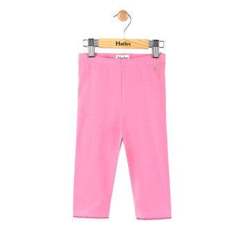 Hatley Rose Pink Crop with Silver Heart Leggings (Size 4 Sample)