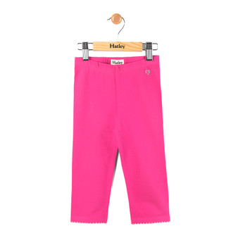 Hatley Hot Pink Crop with Silver Heart Leggings (Size 4 Sample)