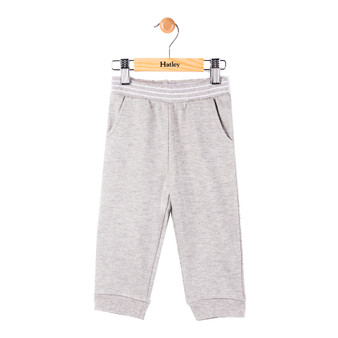 Hatley Grey Striped Waistband Track Pants (Size 9-12m Sample)