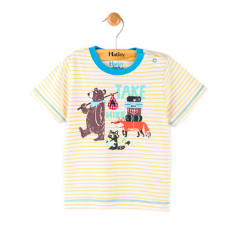 Hatley Yellow Stripe Bear Hiking Tee (Size 9-12m Sample)