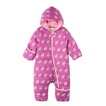 Hatley Deers Pink Puffer Snowsuit (Sizes 9-12 Months Sample)
