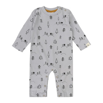Turtledove Grey House on the Hill Playsuit (Size 3-6 Months)