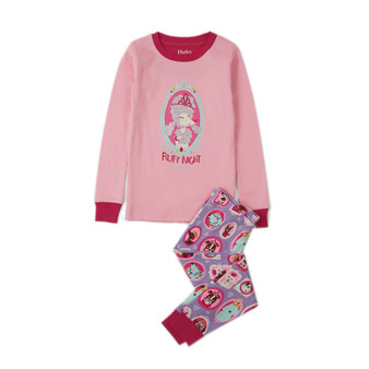 Hatley Poodle Portrait Ruff Night Long Sleeve Pyjamas (Size 4 Sample)