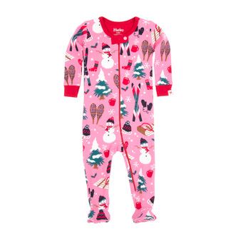 Hatley Pink Holiday Times Footed Coverall (Size 6-12m Sample)