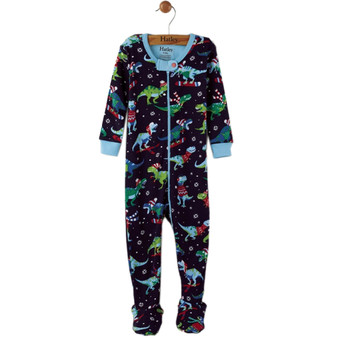 Winter T-Rex Sports Footed Coverall (Size 0-3 Sample)