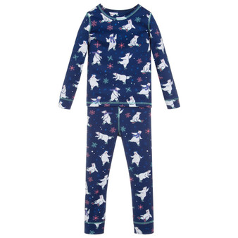 Hatley Skating Polar Bears Base Layer Set (Size 4 Sample)