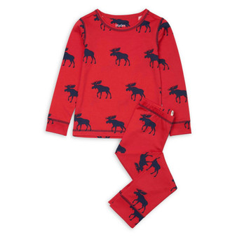 Hatley Moose Gathering Base Layer Set (Size 4 Sample)