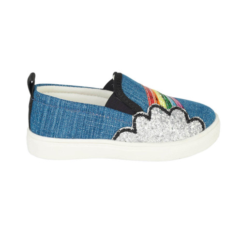 Hatley Over The Rainbow Slip On Sneaker (Sizes 10-13 US Size Shoes)