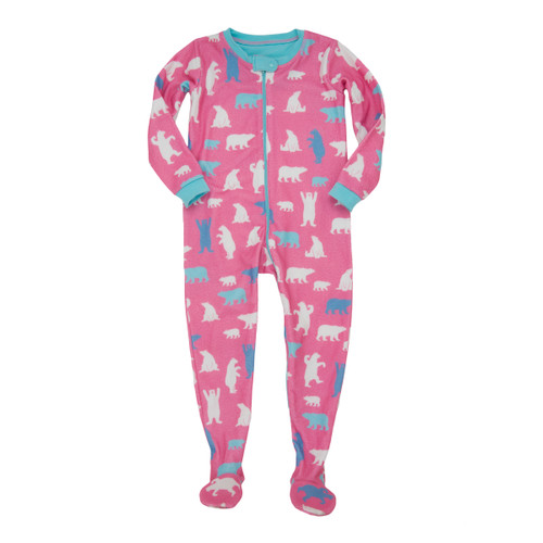 Hatley Pink Bears Fleece Footed Coverall (Size 6-12m Sample)