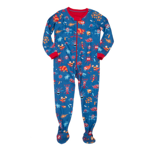 Hatley Sea Creatures Fleece Footed Coverall (Size 6-12m Sample)