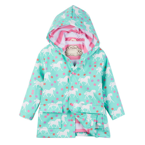 Hatley Colour Changing Galloping Horses Classic Raincoat (Size 9-12m Sample)