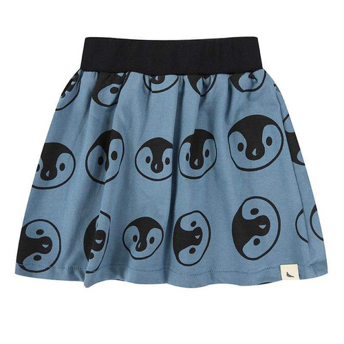 Turtledove Organic Cotton Teal Penguin Print Skirt (Sample Size 0-6 Months & Size 2-3 Years)
