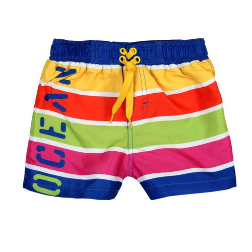 Boboli Bright Ocean Stripe Board Shorts (Size 4 Years Sample)