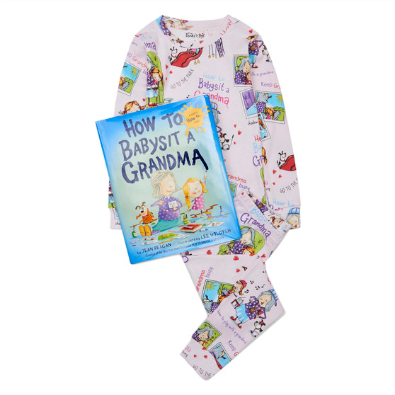 Hatley 'Books to Bed' How to Babysit a Grandma Organic Cotton Pyjama & Book Gift Set (Sizes 3 & 4 Years)