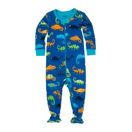 Hatley Crazy Chameleons Footed Coverall (Size 6-12m Sample)