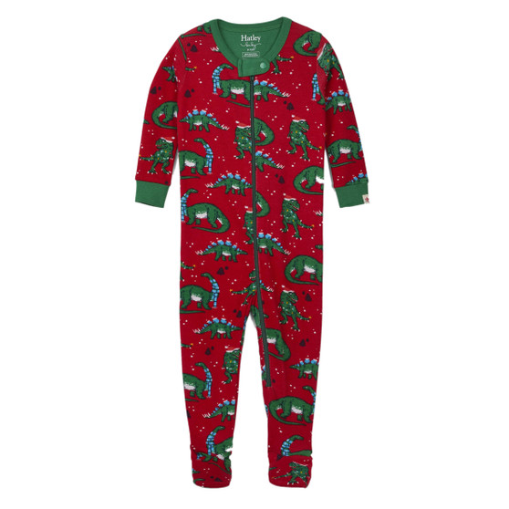 Hatley Christmas Dinos Footed Coverall (Size 9-12m Sample)