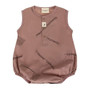Turtledove Organic Cotton Dusty Rose Moments Summer Playsuit (Sample Size 0-6 Months)