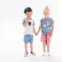 nOeser Organic Cotton Blue & White Nutty Tee (NB-12M & 5-6Y)